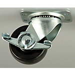Titan Casters™ 2 in. Heavy Duty Rubber Plate Caster  Swivel with Brake