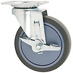 Titan Casters™ 5 in. TPR Rubber Plate Caster, 350 lb. Capacity