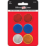 Hillman Multi-Colored Reflectors, Small, Pack of 6