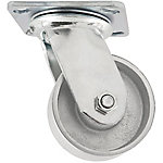 Titan Casters™ 4 in. Heavy-Duty Steel Plate Caster, Swivel, 700 lb. Capacity