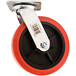 Titan Casters™ 8 in. Polyurethane Plate Caster, Swivel, 900 lb. Capacity