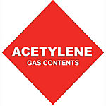 Acetylene Gas Contents, #4 Size, 145 cu. ft.