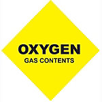 Oxygen Gas Contents, #5 Size, 251 cu. ft.