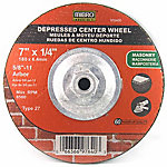 Mibro Industrial Depressed Center Wheel, 7 in. x 1/4 in. x 5/8 in. -11