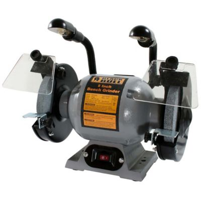 Black Bull™ Heavy-Duty Bench Grinder with Lights, 8 in.