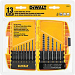 DeWALT® 13 Piece Black Oxide Drill Bit Set