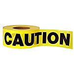 C.H. Hanson® Yellow Caution Barricade Safety Tape, 3 in. x 1000 ft.