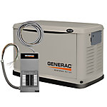 Generac® 14 kW (LP) / 13 kW (NG) Air-cooled Standby Generator with 100 Amp Transfer Switch, CARB Compliant