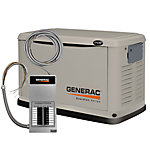Generac® 17 kW (LP) / 16 kW (NG) Air-cooled Standby Generator with 100 Amp Transfer Switch, CARB Compliant