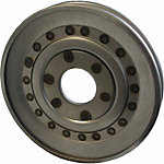 Weasler Pulley, W Series Hub, 4 in. Outside Diameter, 18 Gage