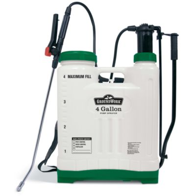 Groundwork Pump Sprayer With Brass Wand 4 Gal 22 34 In H