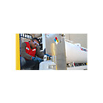 Manchester Tank & Equipment Steel DOT Vertical Liquid Propane Cylinder Equipped with QCC1/OPD Valve, 20 lb.