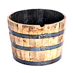 Whiskey Barrel Planter, 26 in. dia.