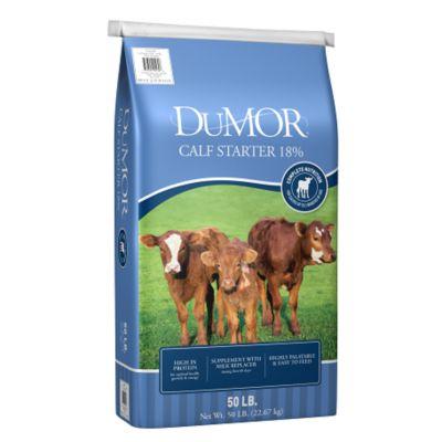 DUMOR CALF STARTER 18% FEED, 50 LB.