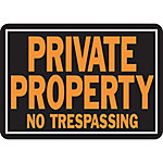 Hy-Ko Private Property No Trespassing Sign, 14 in. x 10 in.