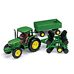 ERTL® 1:32 John Deere® 6410 Tractor with Barge Wagon & Wing Disk