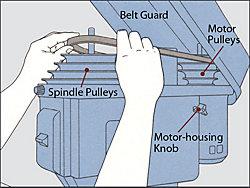 adjust drill speed