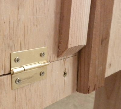 Trim out the end panel doors
