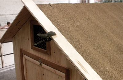 Clamp the roof and let dry