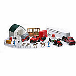 New-Ray Large Farm Playset with 1:32 5th Wheel Truck