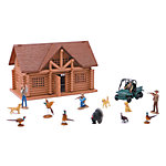New-Ray Wild Hunting Playset with Lodge