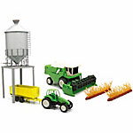 New-Ray Farm Tractor & Grain Bin Playset