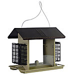Royal Wing® Larger Hopper Feeder with Suet Cages