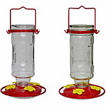 Large Glass Pop Bottle Hummingbird Feeder