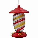 Royal Wing® Copper Plated Striped Glass Hummingbird Feeder
