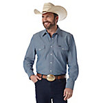 Wrangler® Men's Long Sleeve Chambray Work Shirt