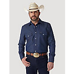 Wrangler Men's Long Sleeve Rigid Denim Work Shirt