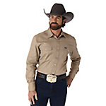 Wrangler® Men's Western Workshirt, Khaki