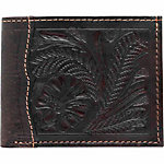 American West Men's Bi-Fold Wallet, Antique Brown and Chocolate