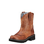 Ariat Ladies' Fatbaby Saddle Leather Boot, Russet Rebel Brown