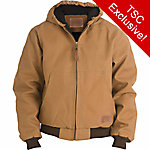 C.E. Schmidt Men's Duck Quilt-Lined Insulated Hooded Jacket