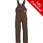C.E. Schmidt Ladies' Sanded/Washed Duck Quilt-Lined Insulated Bib Overall, Dark Brown