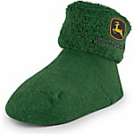 John Deere Infants' Logo Terry Turn Cuff Booties, 1 Pair