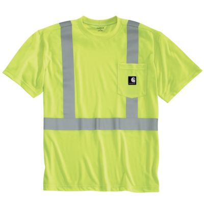 High visibility class 2 short sleeve work shirt for Carhartt work dry t shirt