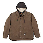 Berne® Men's Insulated Washed Duck Sherpa-Lined Jacket with Fleece Hood