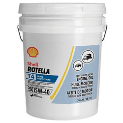15w40 Diesel Oil >> Shell Rotella T Triple Protection 15W-40 Diesel Engine Oil, 5 gal. - For Life Out Here