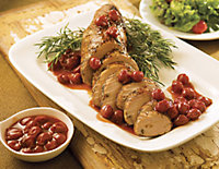 Cherry Sauce over pork tenderloin
