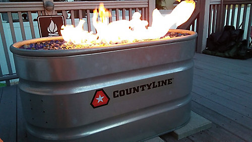 Diy Natural Gas Stock Tank Fire Pit Tractor Supply Co