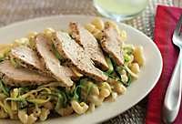 pasta with chicken and zucchini