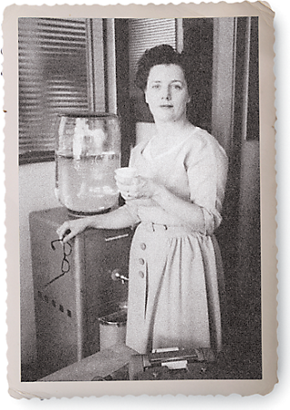 an early photo of Kay Walker