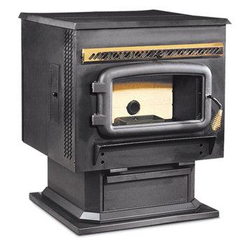 a corn-burner wood stove