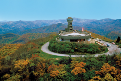 aerial view of Brasstown Bald