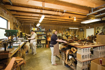 Kevin and his wife Angie working in the shop together