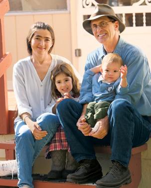 left-to-right: Marie, Hannah, Samuel, and Bruce Buren