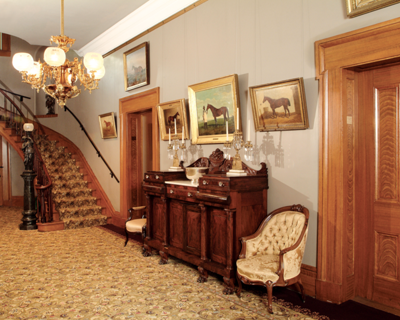 The entryway of Belle Meade mansion - Tractor Supply Co.