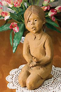 sculpture - 'Girl with Bird'